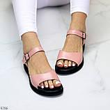Босоніжки жіночі рожеві / пудра натуральна шкіра, фото 6
