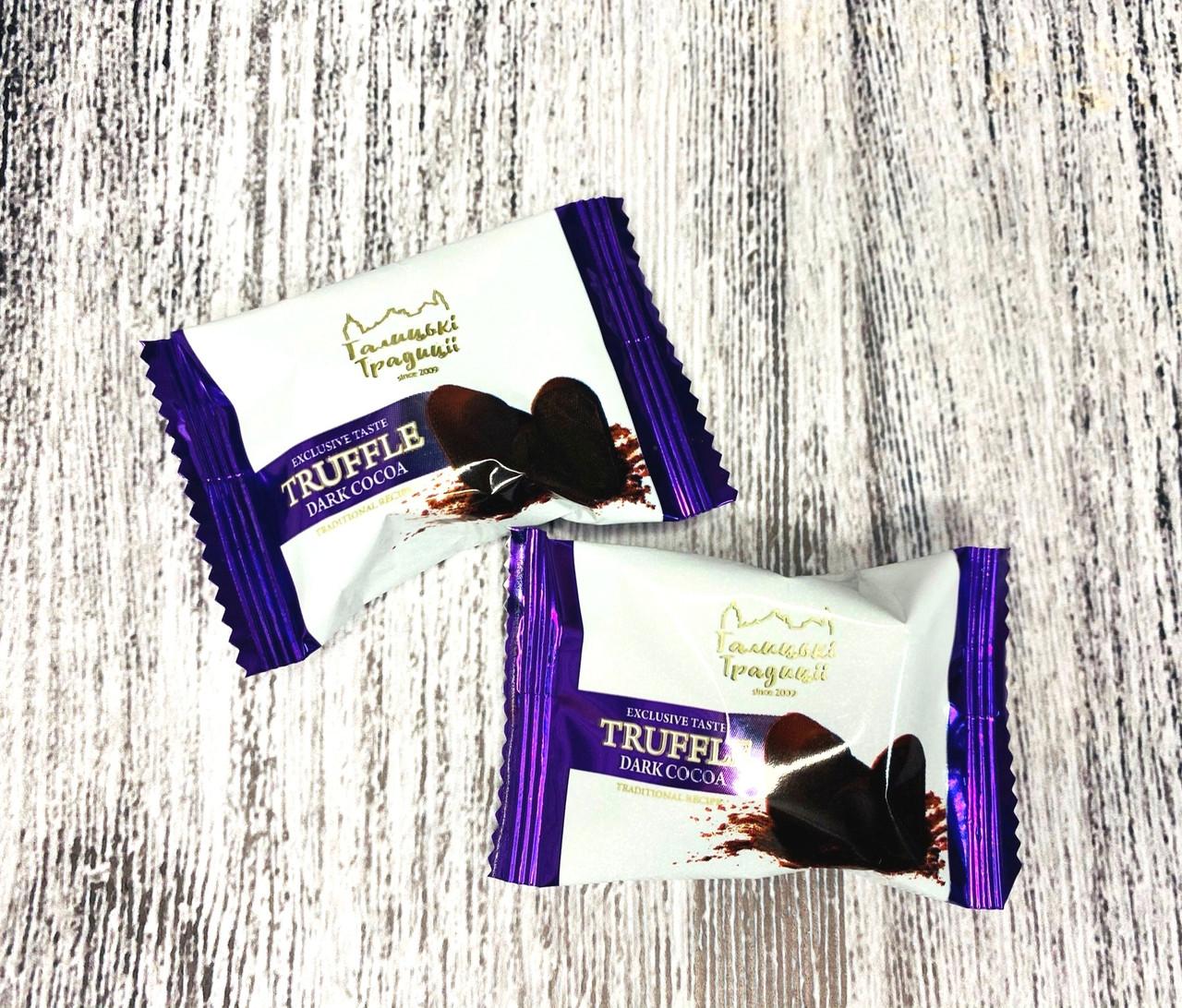 Конфеты Трюфель в какао Темном 2 кг. ф/п ТМ Галицкие традиции