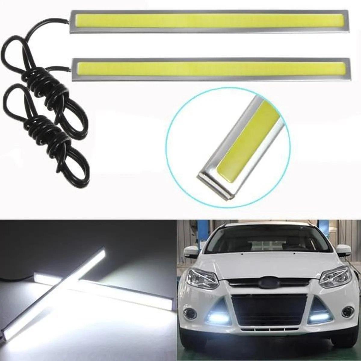 Потужна світлодіодна LED підсвічування авто   Ходові вогні габарит світло ДХО DRL 170A   datime running light