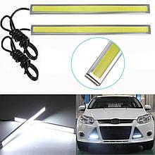 Потужна світлодіодна LED підсвічування авто | Ходові вогні габарит світло ДХО DRL 170A | datime running light