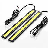 Мощная светодиодная подсветка авто LED | Ходовые огни габарит свет ДХО DRL 170A | datime running light, фото 7