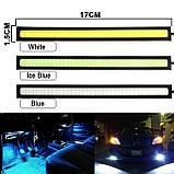 Мощная светодиодная подсветка авто LED | Ходовые огни габарит свет ДХО DRL 170A | datime running light, фото 10