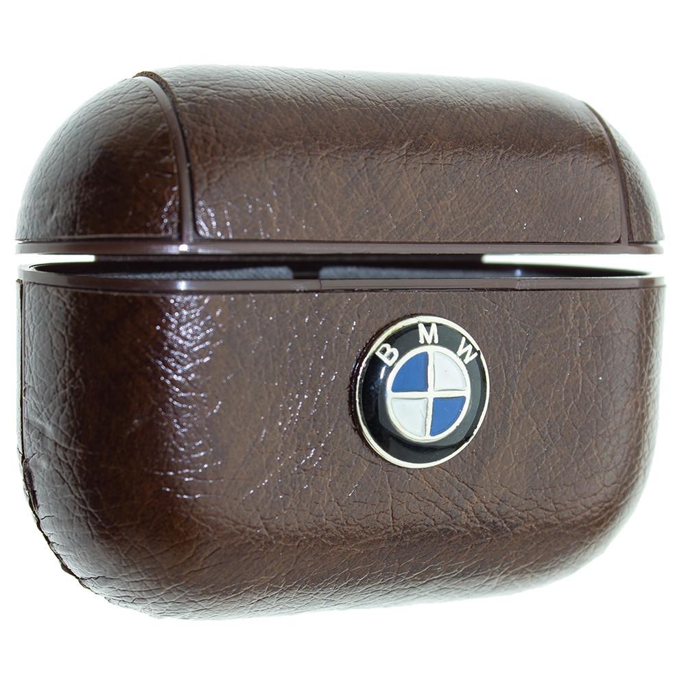 Кожаный чехол Aare BMW для наушников AirPods Pro Тёмно-Коричневый (00007757)