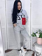 Женский спортивный костюм толстовка и штаны меланж+меланж