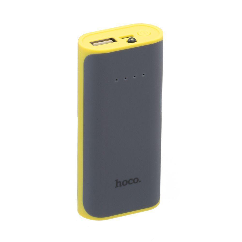 Портативная батарея Power Bank Hoco B21 LED индикатор 5200 mAh Серый