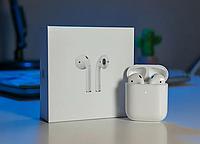 Беспроводные наушники Apple AirPods 2 - го поколения с беспроводной зарядкой! Эпл Аирподс 2 поколения.