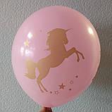 "Латексный шар с рисунком единорог ассорти одним цветом 12 ""35см Малайзия KDI, фото 2"
