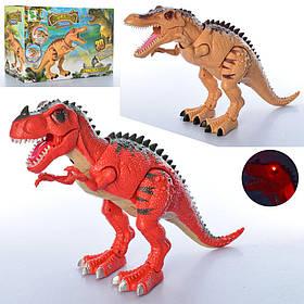 Динозавр 1011-12A  48см, ходит, звук,свет, подвиж.детали, 2вида, на бат,в кор-ке, 32,5-22-13см