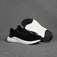Мужские кроссовки Adidas (черные с белым) O10437 легкие кроссы на пене для парней