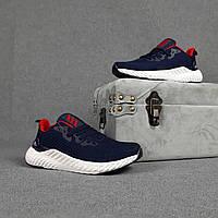 Мужские кроссовки Adidas (синие с красным) O10440 модные кроссы на пене для парней