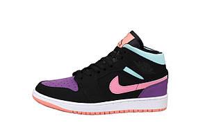 Жіночі кросівки Nike Air Jordan 1 Retro (комбінований) К12521 якісні спортивні високі кроси