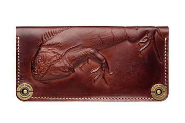 Кожаный женский кошелек Iguana