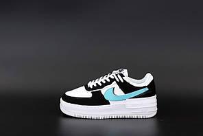 Жіночі кросівки Nike Air Force (білі з чорним) К12515 спортивні якісні кроси