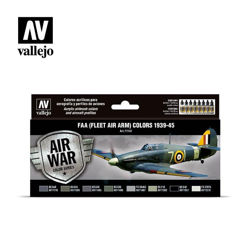 Цвета FAA (Fleet Air Arm) 1939-1945 гг. Набор красок для моделей самолетов. VALLEJO 71147