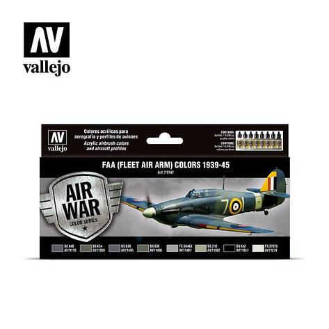 Цвета FAA (Fleet Air Arm) 1939-1945 гг. Набор красок для моделей самолетов. VALLEJO 71147, фото 2
