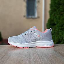 Жіночі кросівки Adidas NEO (Сірі з рожевим) О20129 легка модне взуття