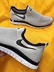 Мужские кроссовки Nike Free Run 3.0 без шнурков (серые) D101 стильная легкая обувь, фото 2