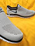 Мужские кроссовки Nike Free Run 3.0 без шнурков (серые) D101 стильная легкая обувь, фото 3