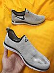 Мужские кроссовки Nike Free Run 3.0 без шнурков (серые) D101 стильная легкая обувь, фото 8