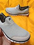 Мужские кроссовки Nike без шнурков (серые) D102 модная летняя легкая обувь, фото 4