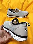 Мужские кроссовки Nike без шнурков (серые) D102 модная летняя легкая обувь, фото 5