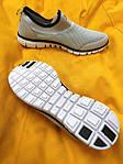 Мужские кроссовки Nike без шнурков (серые) D102 модная летняя легкая обувь, фото 7