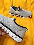 Мужские кроссовки Nike без шнурков (серые) D102 модная летняя легкая обувь, фото 8