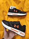Мужские кроссовки Under Armour Hovr (черно-оранжевые) D104 стильная качественная обувь, фото 2