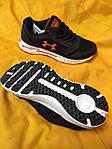 Мужские кроссовки Under Armour Hovr (черно-оранжевые) D104 стильная качественная обувь, фото 3