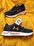 Мужские кроссовки Under Armour Hovr (черно-оранжевые) D104 стильная качественная обувь, фото 4