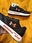 Мужские кроссовки Under Armour Hovr (черно-оранжевые) D104 стильная качественная обувь, фото 5