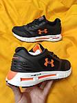 Мужские кроссовки Under Armour Hovr (черно-оранжевые) D104 стильная качественная обувь, фото 7