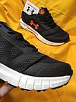 Мужские кроссовки Under Armour Hovr (черно-оранжевые) D104 стильная качественная обувь, фото 8