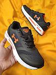Мужские кроссовки Under Armour Hovr (черно-оранжевые) D104 стильная качественная обувь, фото 9