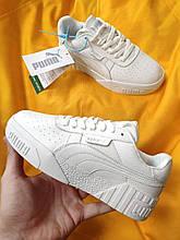 Жіночі кросівки Puma cali (Білі) D107 спортивні демісезонні кеди для дівчат