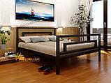 Ліжко двоспальне металева Бріо-2 МТ Метакам, фото 2