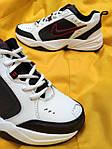 Мужские кроссовки Nike Air Monarch (бело-черно-красные) D88 стильная обувь на весенний сезон, фото 2