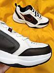 Мужские кроссовки Nike Air Monarch (бело-черно-красные) D88 стильная обувь на весенний сезон, фото 3