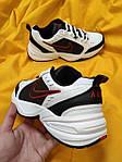 Мужские кроссовки Nike Air Monarch (бело-черно-красные) D88 стильная обувь на весенний сезон, фото 8