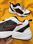 Мужские кроссовки Nike Air Monarch (бело-черно-красные) D88 стильная обувь на весенний сезон, фото 9