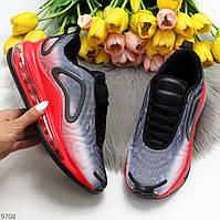 Яркие люксовые текстильные женские красные омбре кроссовки мультиколор 39-25 см