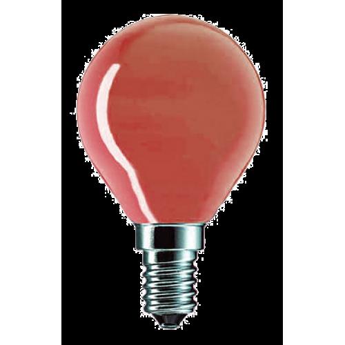 Лампа накаливания красная PILA P45 15W E14 (Польша)