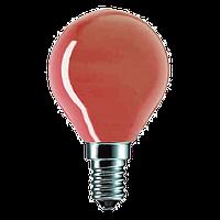 Лампа накаливания красная PILA P45 15W E14 (Польша), фото 1