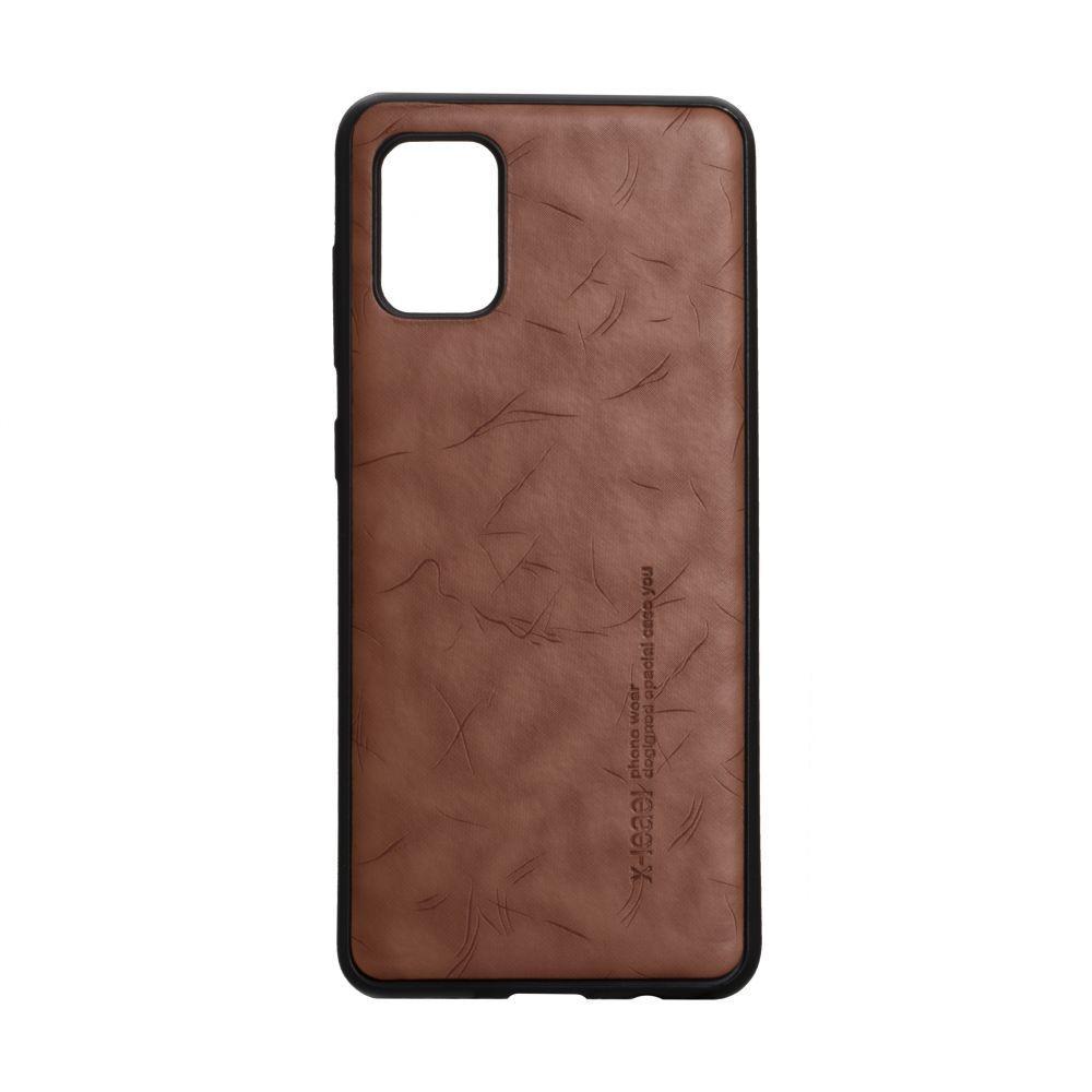 Чехол для SAMSUNG A31 коричневый Leael Color /  Чехол для САМСУНГ a31