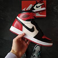 Кроссовки мужские Nike Air Jordan 1 Bred Toe