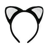 Меховые ушки Кошки на обруче