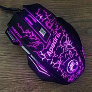 Игровая мышка Apedra A7 3200 dpi LED подсветка Gaming USB 2.0 геймерская и компьютерная