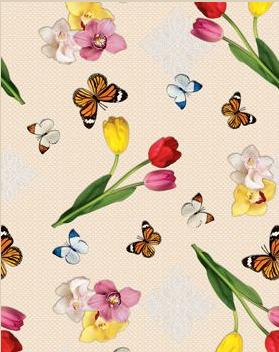 Скатерть-клеёнка Люкс на стол Летние бабочки