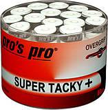 Pro's pro SUPER TACKY PLUS намотка для тенниса цвет белый ( намотка тенісна намотки), фото 2