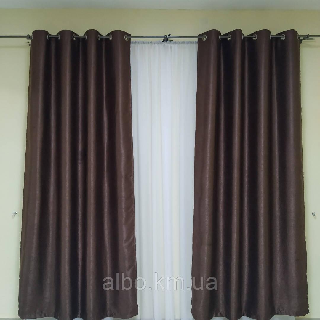 Штори в зал кухню кімнату Блекаут, щільні штори на люверсах в спальню квартиру кімнату хол, однотонні штори для спальні залу кухні